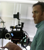 Carl Shooting Green Screen with Sony F3