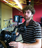 Sean shooting with the 5D and Zeiss lens
